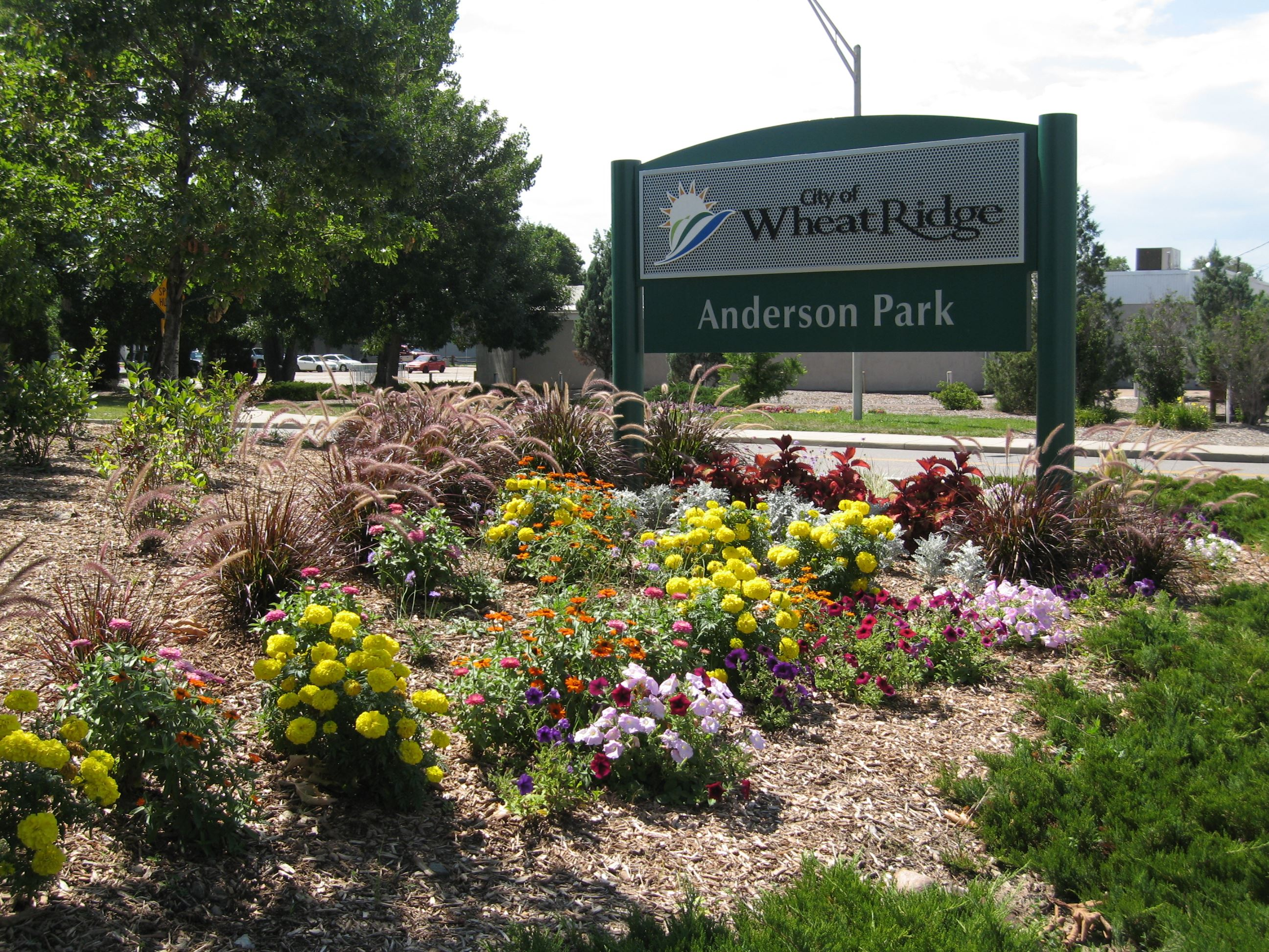 Anderson Park entry sign