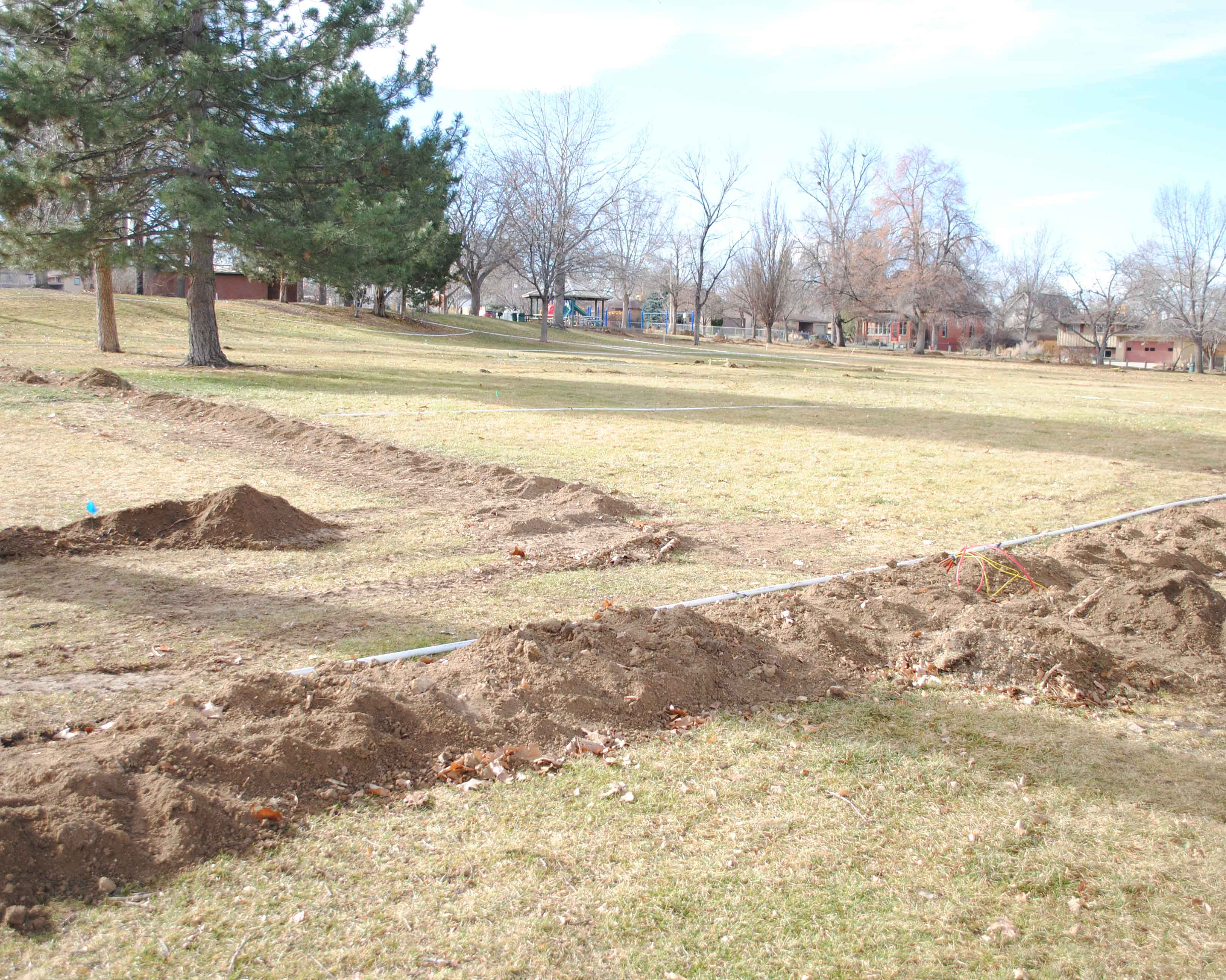 Panorama Park new irrigation system being installed