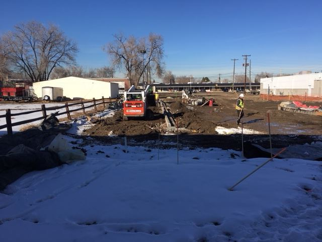 Parks, Forestry & Open Space parking lot construction at Anderson Park