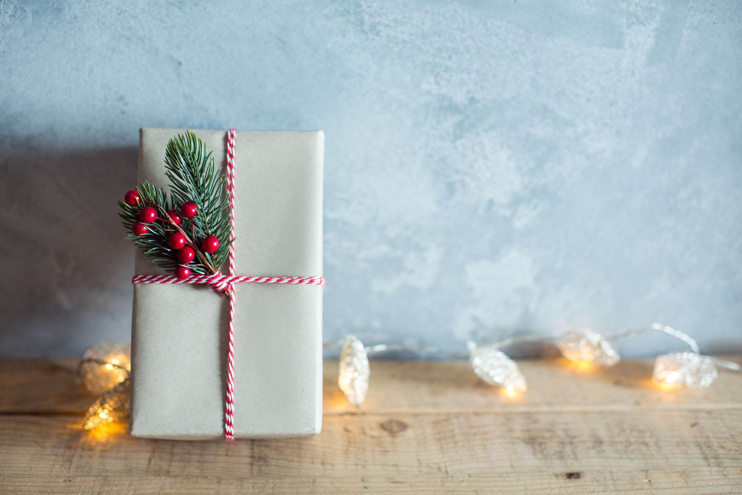 Festivly crafted wrapped gift
