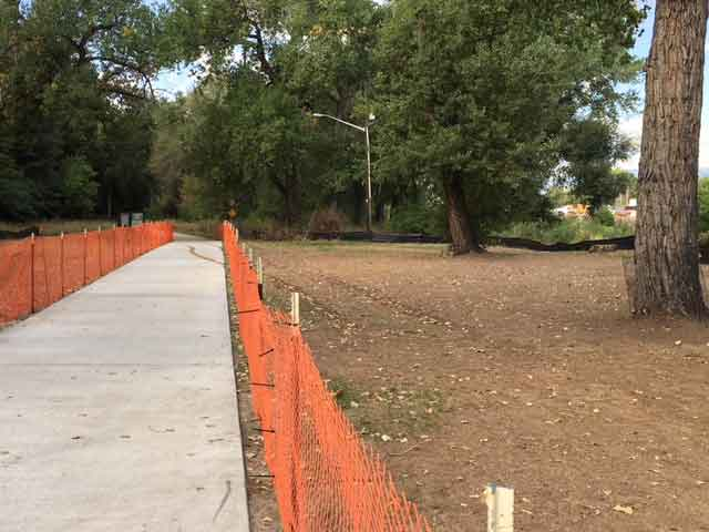 New portion of Clear Creek Trail at Johnson Park